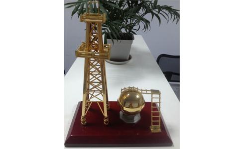 单塔石油钻井模型