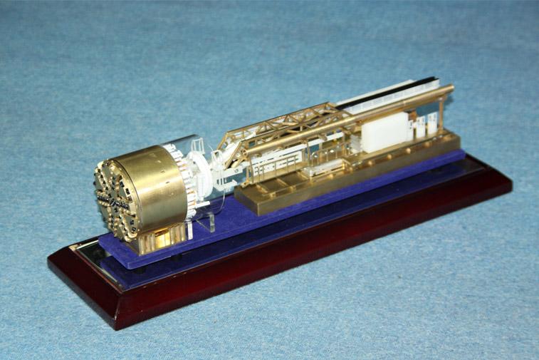 中铁盾构机模型