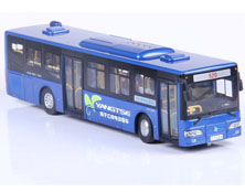 1:43扬子江纯电动客车模型